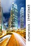 traffic in hong kong at night | Shutterstock . vector #194910665
