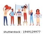people protest  activism... | Shutterstock .eps vector #1949129977