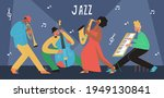 live music band playing on... | Shutterstock .eps vector #1949130841