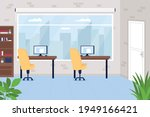 office workspace flat color... | Shutterstock .eps vector #1949166421