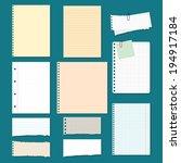 vector collection  paper | Shutterstock .eps vector #194917184