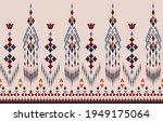 beautiful ethnic abstract ikat... | Shutterstock .eps vector #1949175064