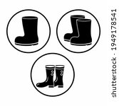 rubber boots icon vector... | Shutterstock .eps vector #1949178541