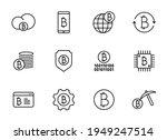 bitcoin linear vector icons...