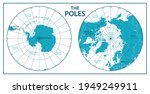 the poles   north pole and... | Shutterstock .eps vector #1949249911