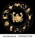 cancer vector of astrology... | Shutterstock .eps vector #1949267134
