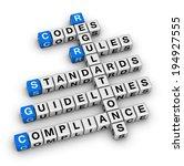 compliance crossword puzzle | Shutterstock . vector #194927555