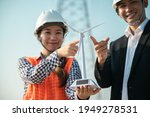 Engineer Worker Finger Point At ...