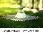 shuttlecock for playing...   Shutterstock . vector #1949295481