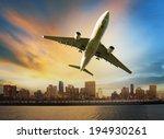 passenger plane flying above... | Shutterstock . vector #194930261
