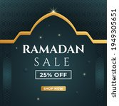 ramadan sale banner 25  off....   Shutterstock .eps vector #1949305651