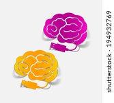 realistic design element  brain ... | Shutterstock .eps vector #194932769
