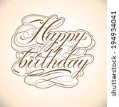 fine line vector calligraphy... | Shutterstock .eps vector #194934041