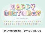 cartoon font for kids. happy...   Shutterstock .eps vector #1949348701