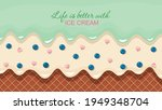 melted flowing ice cream...   Shutterstock .eps vector #1949348704