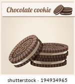 chocolate cookie. detailed... | Shutterstock .eps vector #194934965