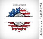 patriotic sunflower monogram...   Shutterstock .eps vector #1949357764