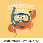 vector cartoon crab sketch for... | Shutterstock .eps vector #1949375764