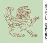 heraldic griffin. vintage...   Shutterstock .eps vector #1949419231