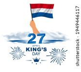 april 27 king's day. king's... | Shutterstock .eps vector #1949446117