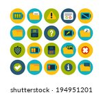 flat icons vector set 10  ...