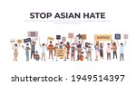 stop asian hate mix race people ... | Shutterstock .eps vector #1949514397
