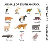 south of american animals ... | Shutterstock .eps vector #1949525074