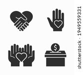 charity and volunteer icons set.... | Shutterstock .eps vector #1949559331