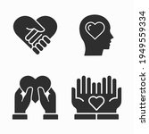 charity and volunteer icons set.... | Shutterstock .eps vector #1949559334