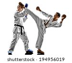 two karate men sensei and... | Shutterstock . vector #194956019