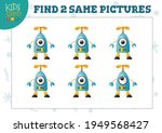 find two same pictures kids... | Shutterstock .eps vector #1949568427
