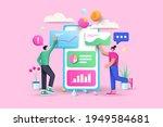 3d data analysis  business ... | Shutterstock .eps vector #1949584681