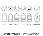 vector battery charge indicator ...   Shutterstock .eps vector #1949605054