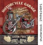 vintage garage motorcycle ...   Shutterstock . vector #1949614891