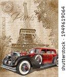paris vintage postcard.retro...   Shutterstock . vector #1949619064