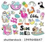 set of summer animals. pug dog...   Shutterstock .eps vector #1949648647
