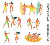 flat design young men and women ... | Shutterstock .eps vector #1949651251