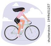flat design cool vector female... | Shutterstock .eps vector #1949651257