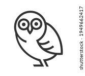owl logotype linear stylish... | Shutterstock . vector #1949662417