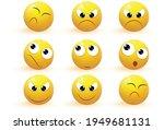emoji. emotion icons vector... | Shutterstock .eps vector #1949681131