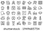 sleep problems icons set.... | Shutterstock .eps vector #1949685754