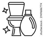 clean toilet vector isolated... | Shutterstock .eps vector #1949686774