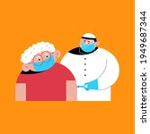 vaccination vector cartoon...   Shutterstock .eps vector #1949687344