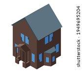 dark creepy house icon.... | Shutterstock .eps vector #1949695204
