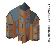 ghost creepy house icon.... | Shutterstock .eps vector #1949695321