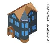 horror creepy house icon.... | Shutterstock .eps vector #1949695411