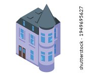 creepy castle icon. isometric... | Shutterstock .eps vector #1949695627