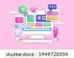 seo optimization  web analytics ...   Shutterstock .eps vector #1949720554