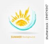 abstract summer background.... | Shutterstock .eps vector #194974547