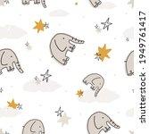 nursery seamless pattern vector ... | Shutterstock .eps vector #1949761417